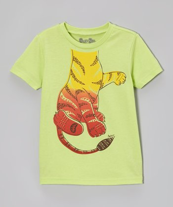 Lime Playful Tiger Tee - Infant, Toddler & Boys