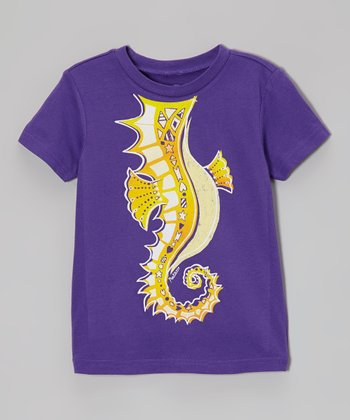 Grape Rockin' Seahorse Tee - Infant, Toddler & Kids