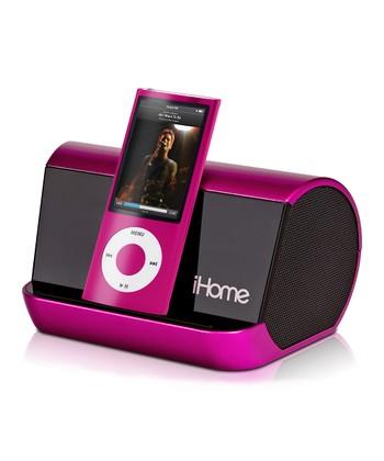 Pink Portable Speaker System