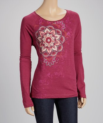 Heartfelt Purple Embellished Top