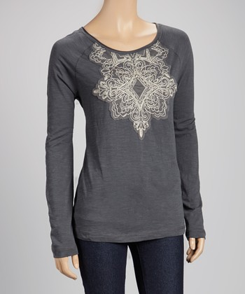 Burnt Ash Embellished Top