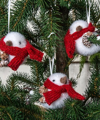 Wool Bird Ornament Set