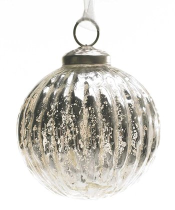 Silver Mercury Glass 4'' Ball Ornament
