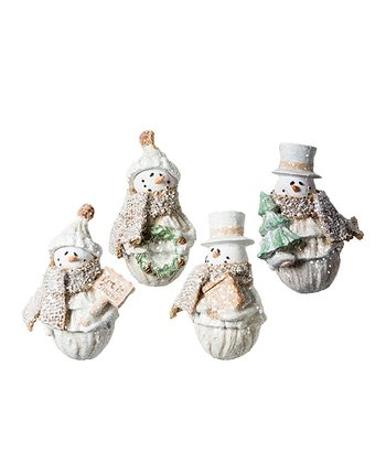 Scarf Snowman Ornament Set