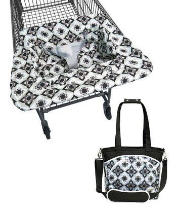 Black Magnolia Mode Diaper Bag & Shopping Cart Cover
