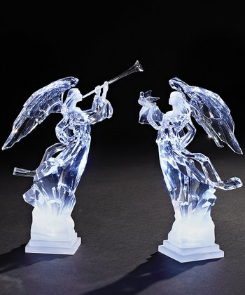 Trumpeting Angel Figurine Set