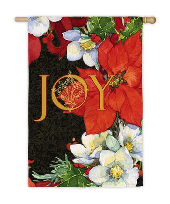 'Joy' Poinsettias Flag