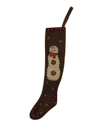 Snowman Wool Stocking