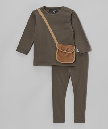 Gray Purse Pocket Tunic & Leggings - Infant & Toddler