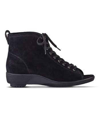 Black Marcella Open-Toe Ankle Boot - Women