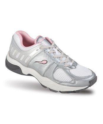 Silver & Light Pink Ballistic Sneaker - Women