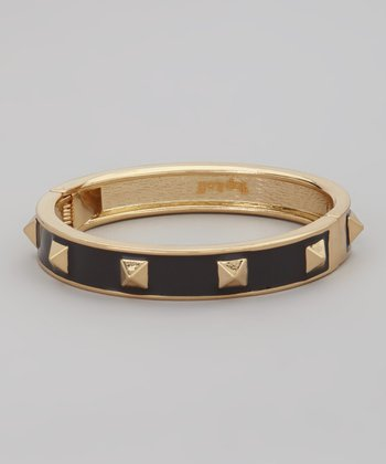 Gold & Black Linda Bangle