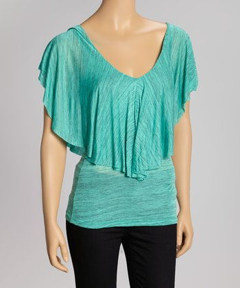 Jade Ruffle Scoop Neck Top