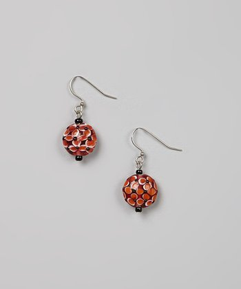 Red & Orange Bead Earrings