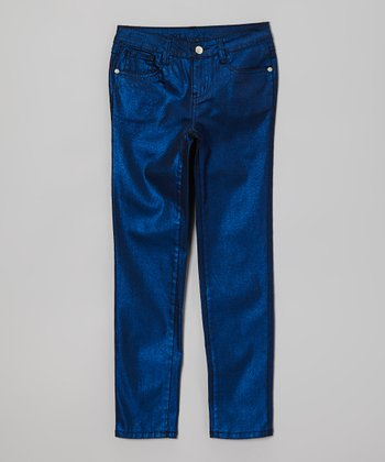 Royal Shimmer Skinny Jeans - Toddler & Girls