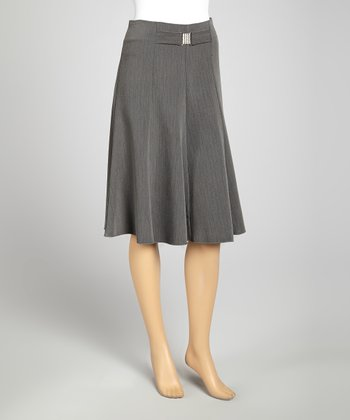 Gray Pinstripe Skirt