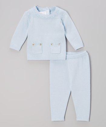 Blue Pocket Sweater & Leggings - Infant & Toddler