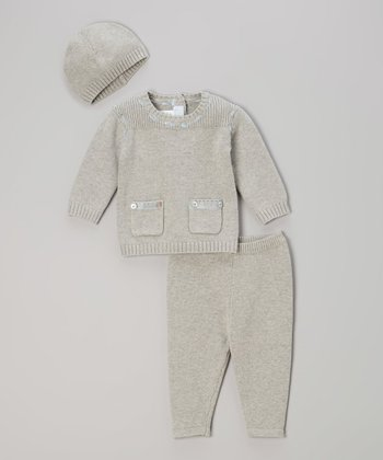 Gray Pocket Sweater Set - Infant & Toddler