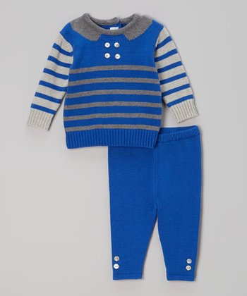 Royal Blue & Gray Sweater & Leggings - Infant