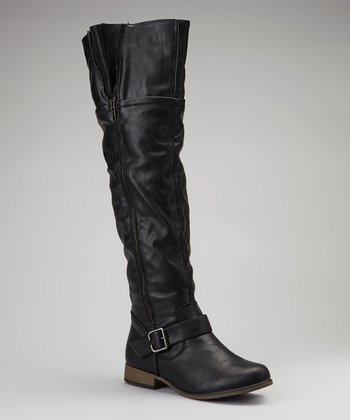 Black Legend Over-the-Knee Boot