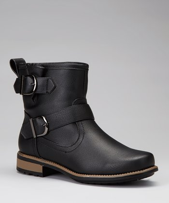 Black Vilma Buckle Ankle Boot