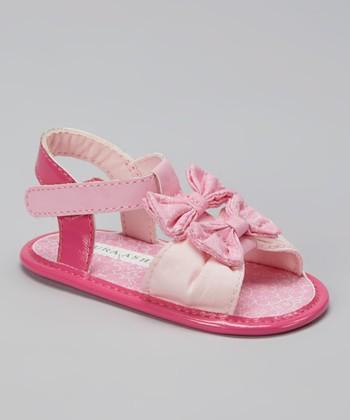 Laura Ashley Pink Bow Sandal