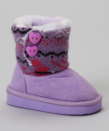 Purple Polo Knit Bootie