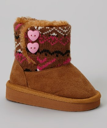 Camel Polo Knit Bootie