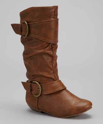Tan Tamika Tall Buckle Boot