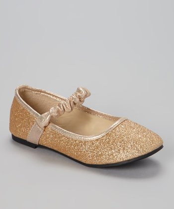 Rose Gold Glitter Soda Flat
