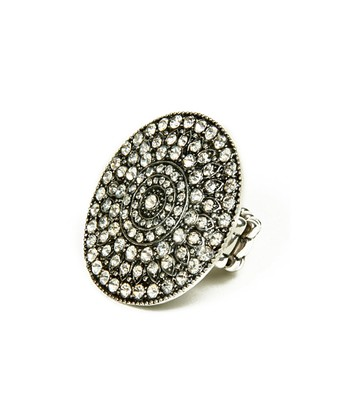 Antique Silver Crystal Kimora Ring