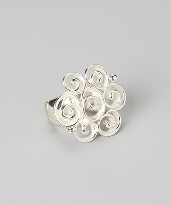 Silver Swirl Stretch Ring