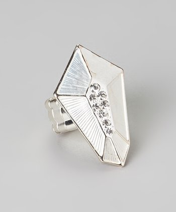 Silver Faceted Stretch Ring