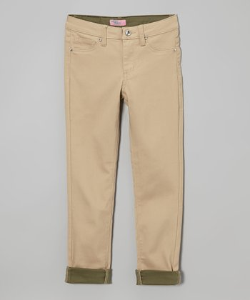 Khaki & Olive Pants - Girls