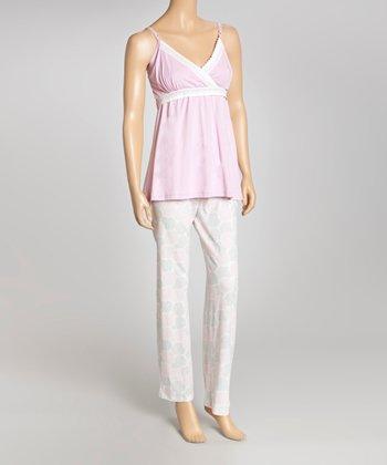 Belabumbum Lilac & Blue Polka Dot Nursing Pajamas