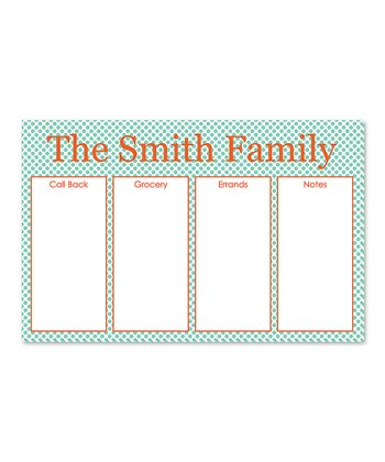 Coral Personalized Family Desk Planner