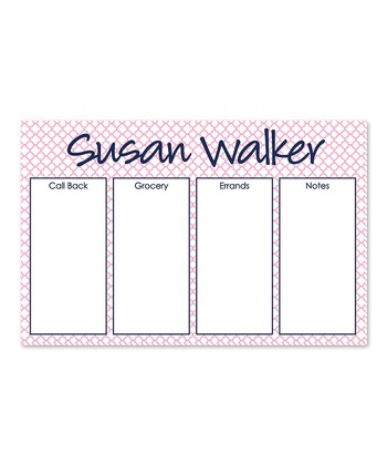 Navy Personalized Desk Planner
