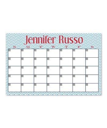 Zigzag Personalized Desk Calendar