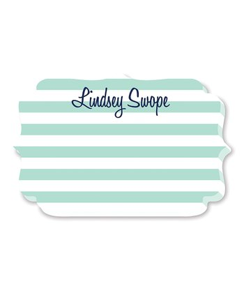 Green & Blue Personalized Die-Cut Notepad