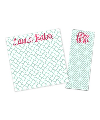 Mint Personalized Notepad Set
