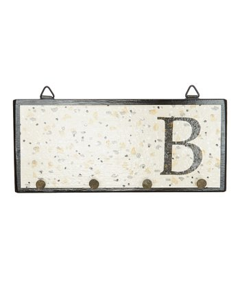 Beige Dots Initial Wall Hook