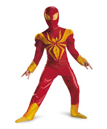Red & Yellow Ultimate Iron Spider-Man Dress-Up Set - Boys