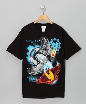 Black Iron Man 'War Machine' Tee - Kids