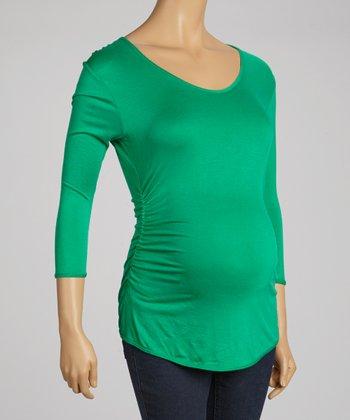 Fiory Naz Green Maternity Three-Quarter Sleeve Top