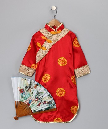 Red Asian-Inspired Dress-Up Set - Toddler