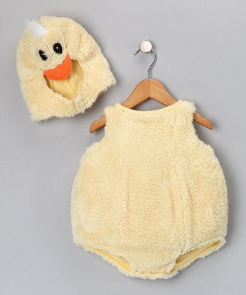 Yellow Cute Little Baby Duck Dress-Up Set - Infant