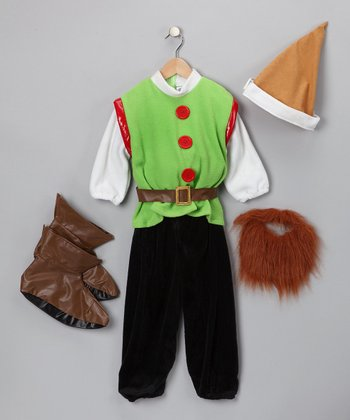 Green Cute Little Elf Dress-Up Set - Kids