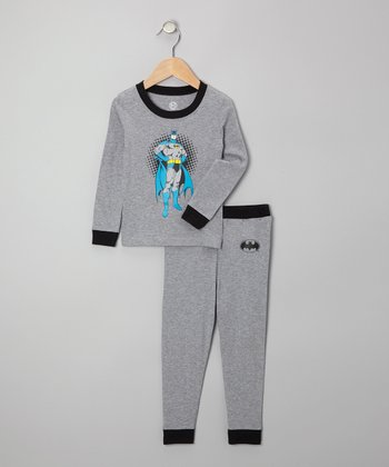 Heather Gray Batman Pajama Set - Infant & Toddler