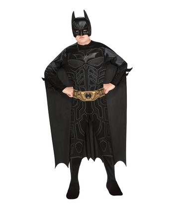 Black Metallic Muscle Batman Dress-Up Set - Boys