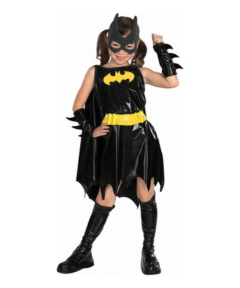 Black & Gold Batgirl Deluxe Dress-Up Set - Girls